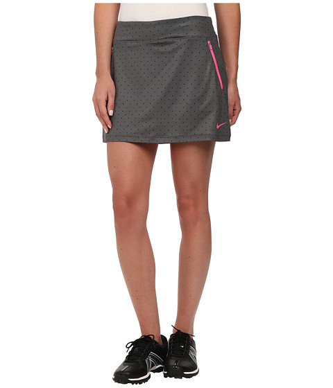 Nike Golf - Printed Flight Skort (Dark Grey/Black/Pink Pow) Women