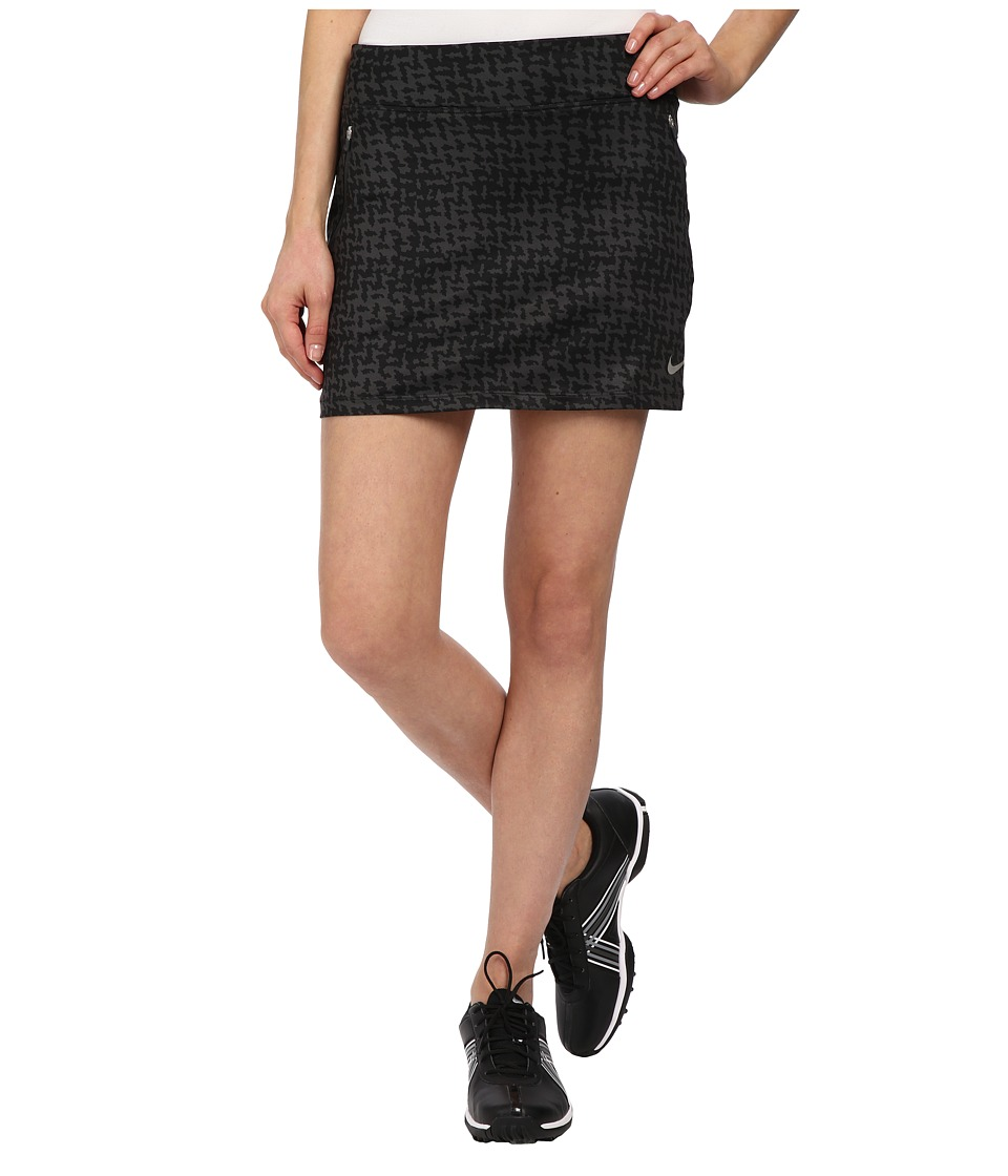 Nike Golf - Printed Flight Skort (Anthracite/Black/Metallic Silver) Women's Skort