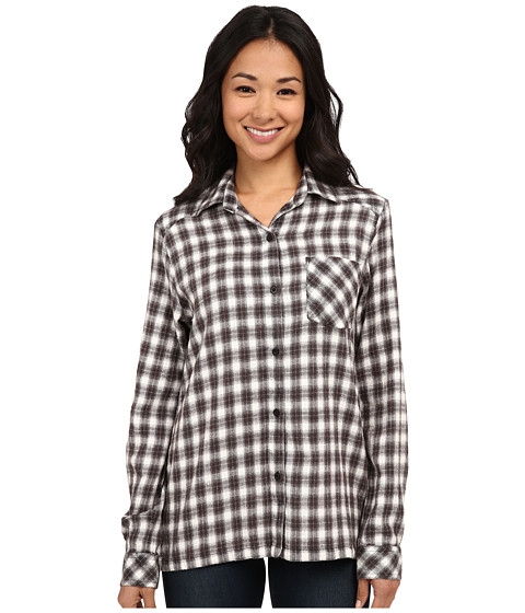 RVCA - Jig 2 Top (Black) Women's Long Sleeve Button Up
