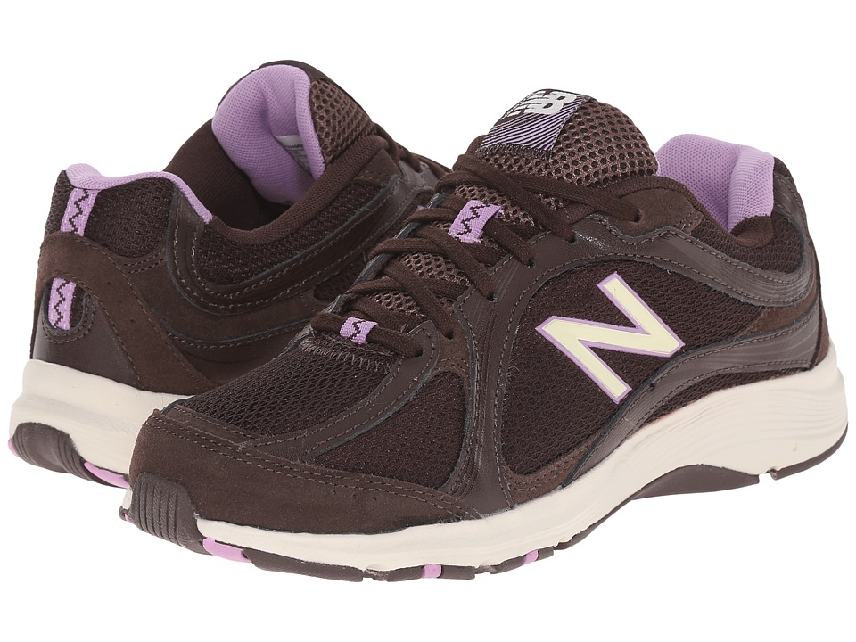 New Balance - W496V2 (Brown/Pink) Women's Shoes