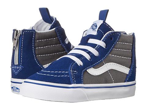 Vans Kids - Sk8-Hi Zip (Toddler) (True Blue/Asphalt) Boys Shoes