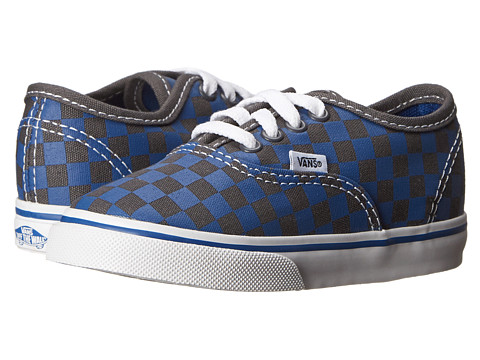 Vans Kids - Authentic (Toddler) ((Checkerboard) True Blue/Asphalt) Boy