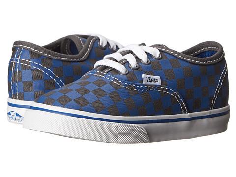 Vans Kids - Authentic (Toddler) ((Checkerboard) True Blue/Asphalt) Boy's Shoes