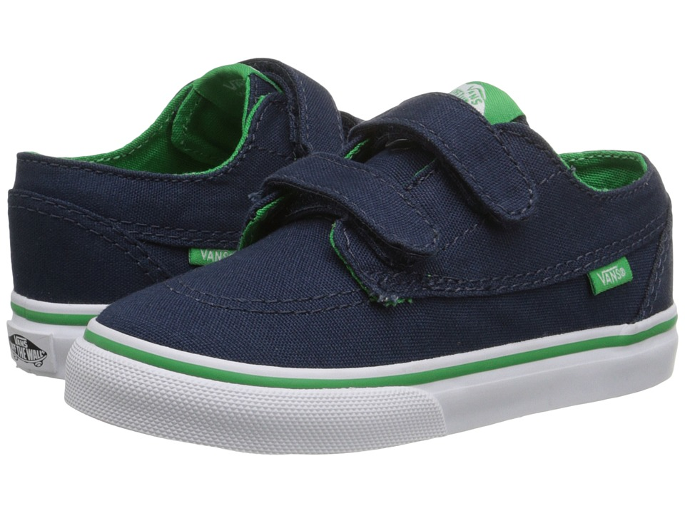 Vans Kids - Brigata V (Toddler) ((Pop) Dress Blues/Kelly Green) Boys Shoes