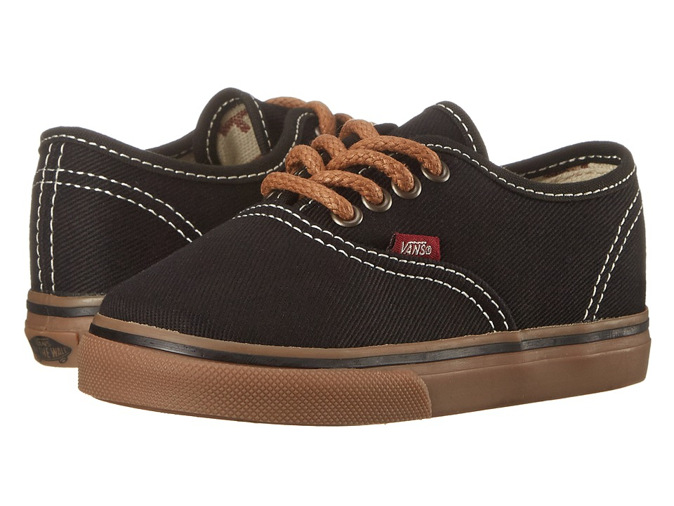 Vans Kids - Authentic (Toddler) ((T&G) Black/Gum) Boy's Shoes
