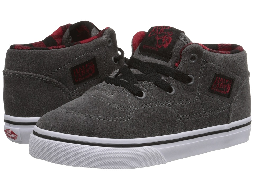 Vans Kids - Half Cab (Toddler) ((Suede) Grey/Buffalo) Boys Shoes