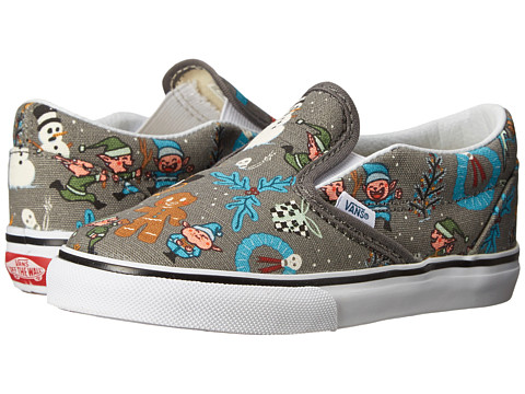 Vans Kids - Classic Slip-On (Toddler) ((Van Doren) Holiday/Pewter) Kids Shoes