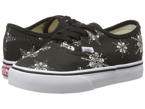 Vans Kids - Authentic (Toddler) ((Van Doren) Skull Snowflake/Black) Kids Shoes