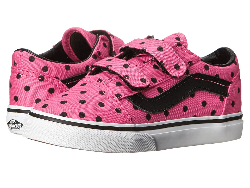 Vans Kids - Old Skool V (Infant/Toddler) ((Polka Dots) Pink) Girls Shoes