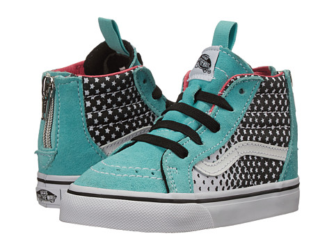 Vans Kids - Sk8-Hi Zip (Toddler) ((Heart Fade) Aqua Sky/True White) Girls Shoes