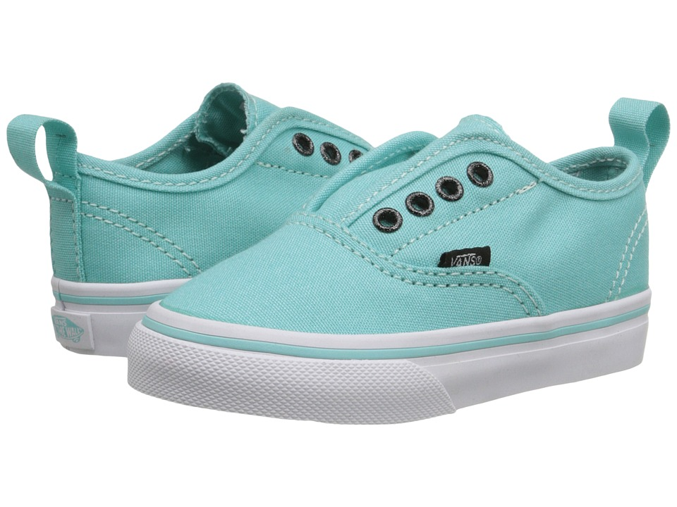 Vans Kids - Authentic V (Toddler) ((Glitter Eyelets) Aqua Sky/True White) Girls Shoes