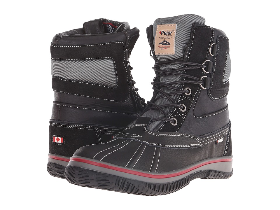 Pajar CANADA - Tuscan No Fur (Black) Men's Hiking Boots