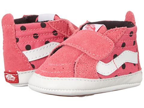 Vans Kids - Sk8-Hi Crib (Infant/Toddler) ((Polka Dots) Hot Pink/True White) Girls Shoes