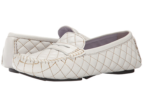 Johnston & Murphy - Claire Quilted Driver (White Glove) Women's Slip on Shoes