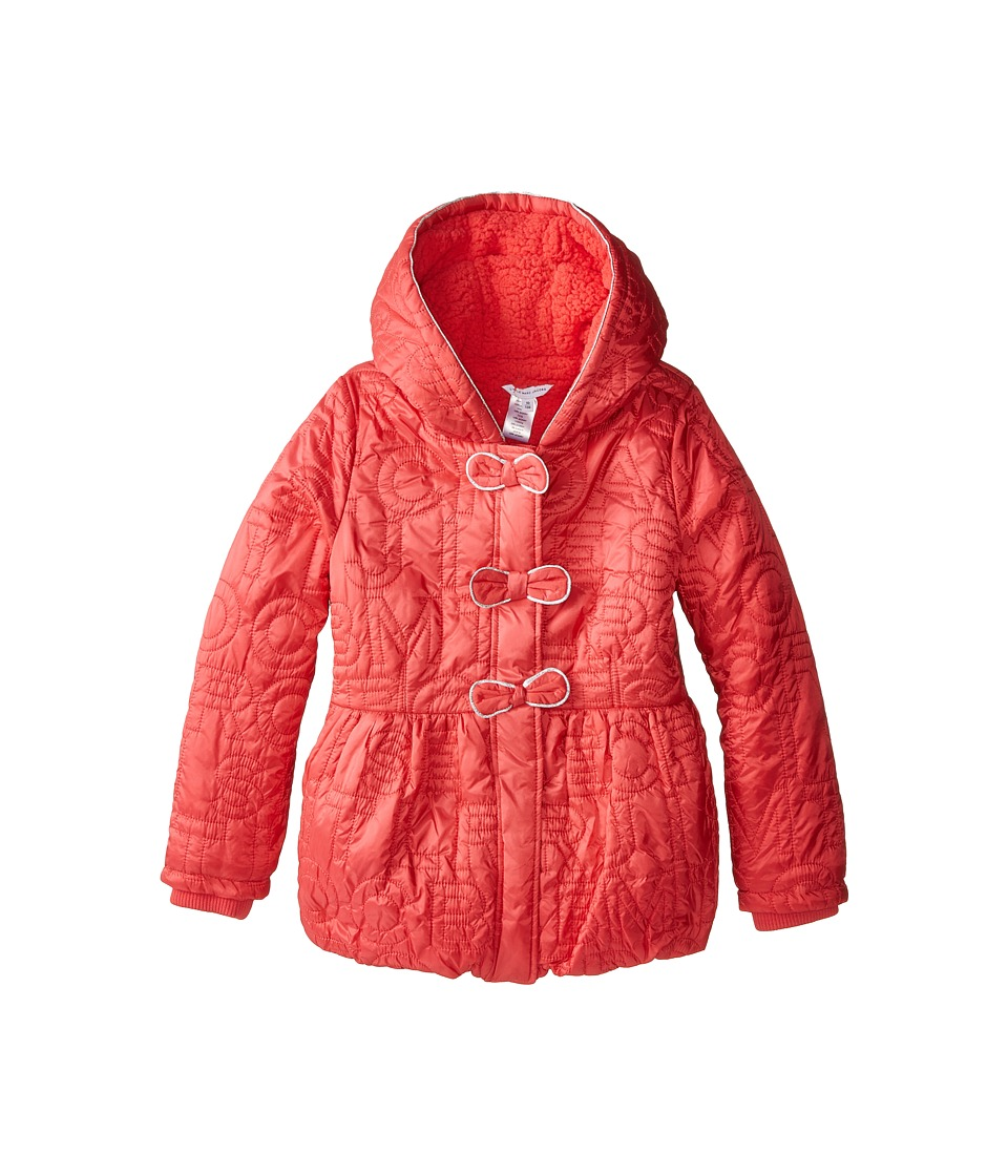 Little Marc Jacobs - Nylon Hooded Puffer (Little Kids/Big Kids) (Fraise) Girl's Clothing