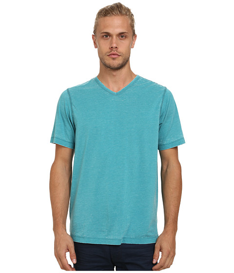 UNIONBAY - Sherman Burnout V-Neck Tee (Creole Heather) Men's Short Sleeve Pullover