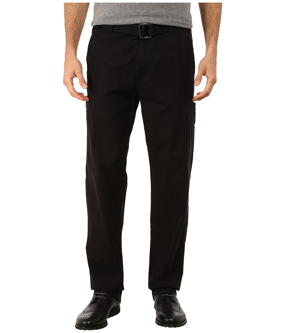 UNIONBAY - Vaughn Belted Pants (Black/Belt) Men's Casual Pants