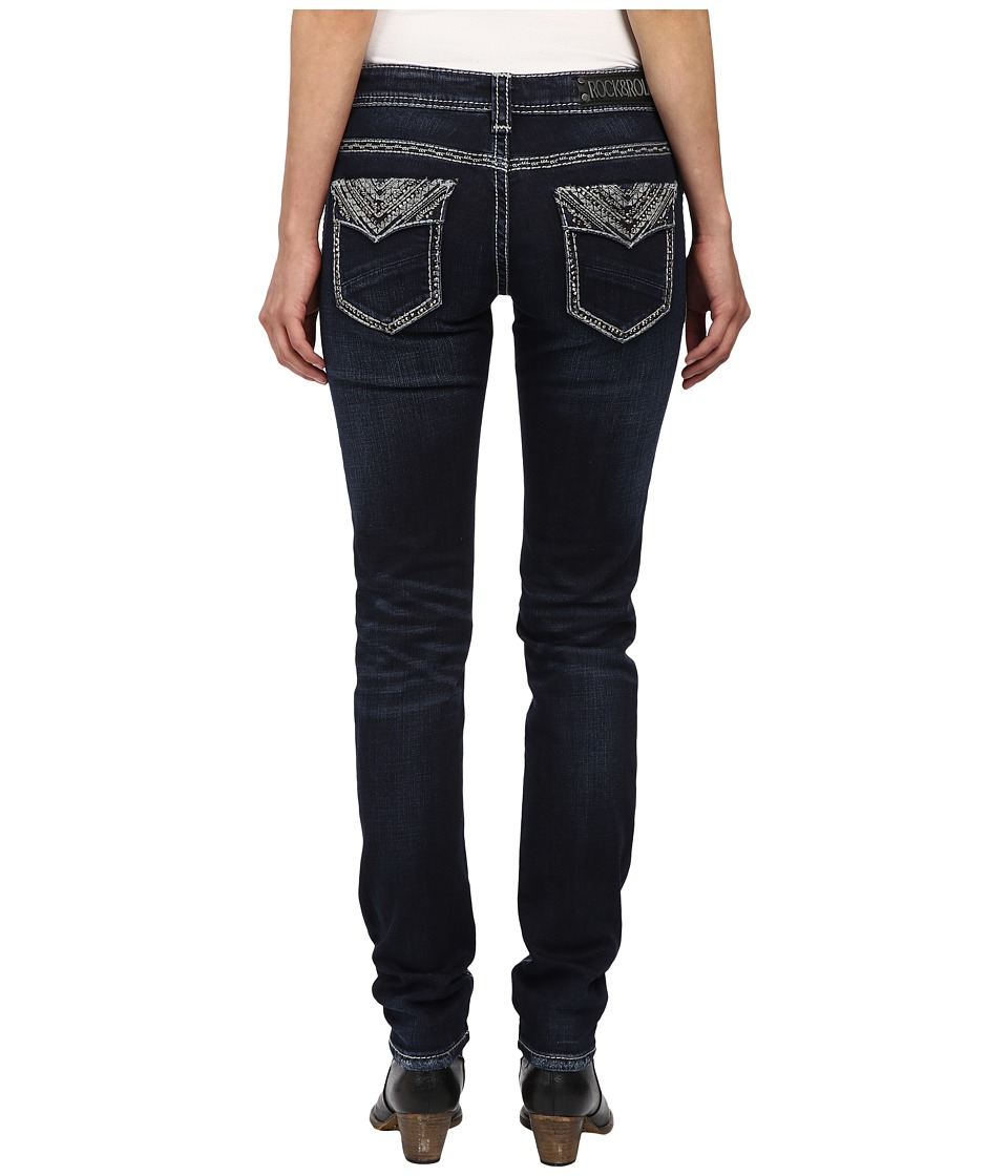Rock and Roll Cowgirl - Low Rise Skinny in Dark Wash W0S4490 (Dark Wash) Women