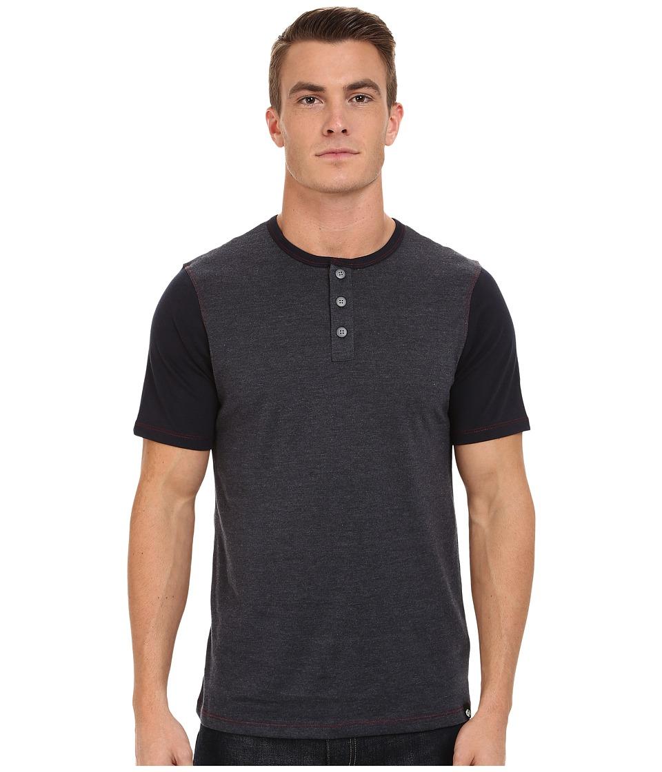 UNIONBAY - Porter Nep Jersey Henley (Navy Blazer) Men's Clothing