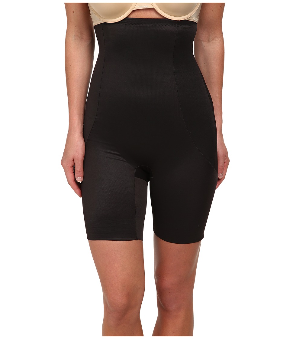 Miraclesuit Shapewear - Long Torso High Waist Thigh Slimmer (Black) Women's Underwear