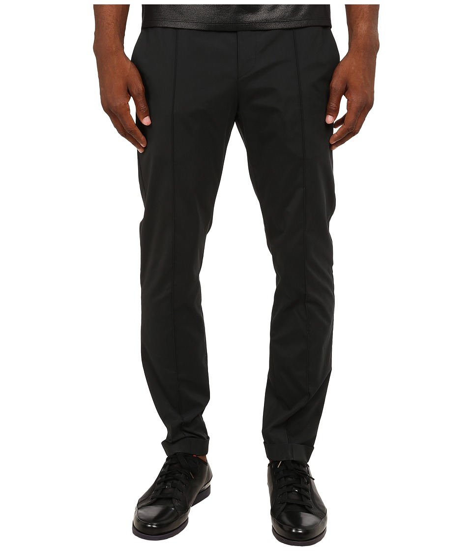 CoSTUME NATIONAL - Drawstring Trousers (Nero) Men's Casual Pants