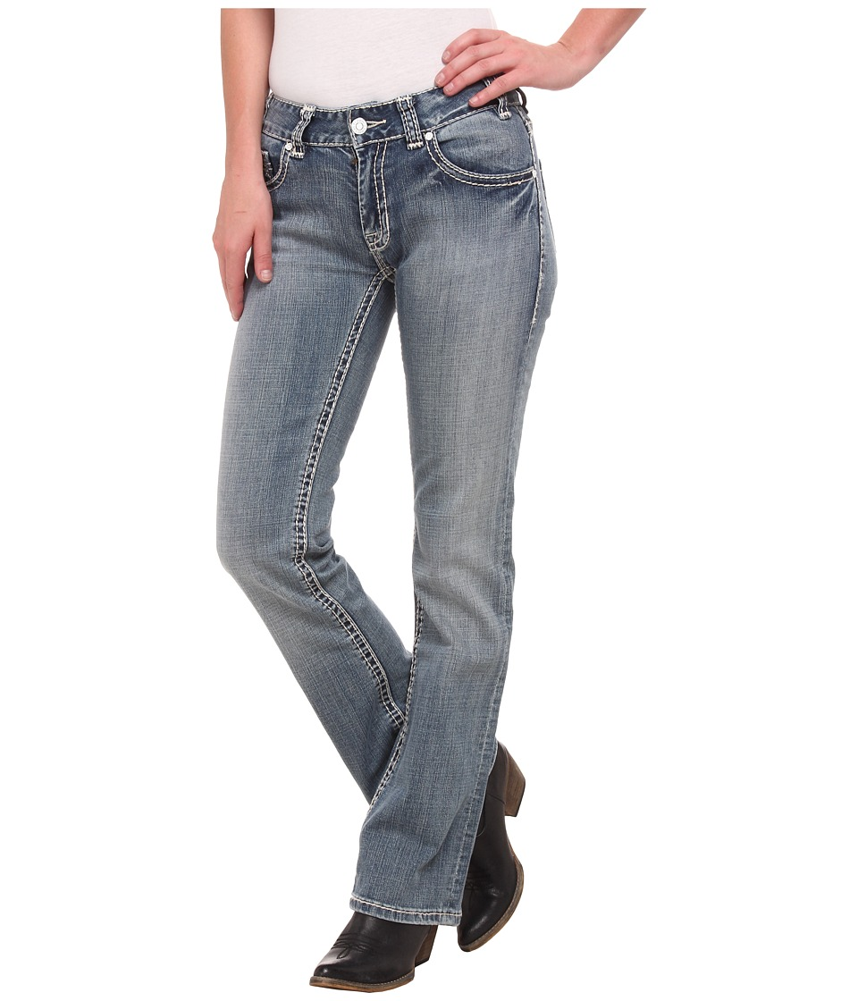 Rock and Roll Cowgirl - Mid Rise Bootcut in Light Vintage W1-4503 (Light Vintage) Women's Jeans