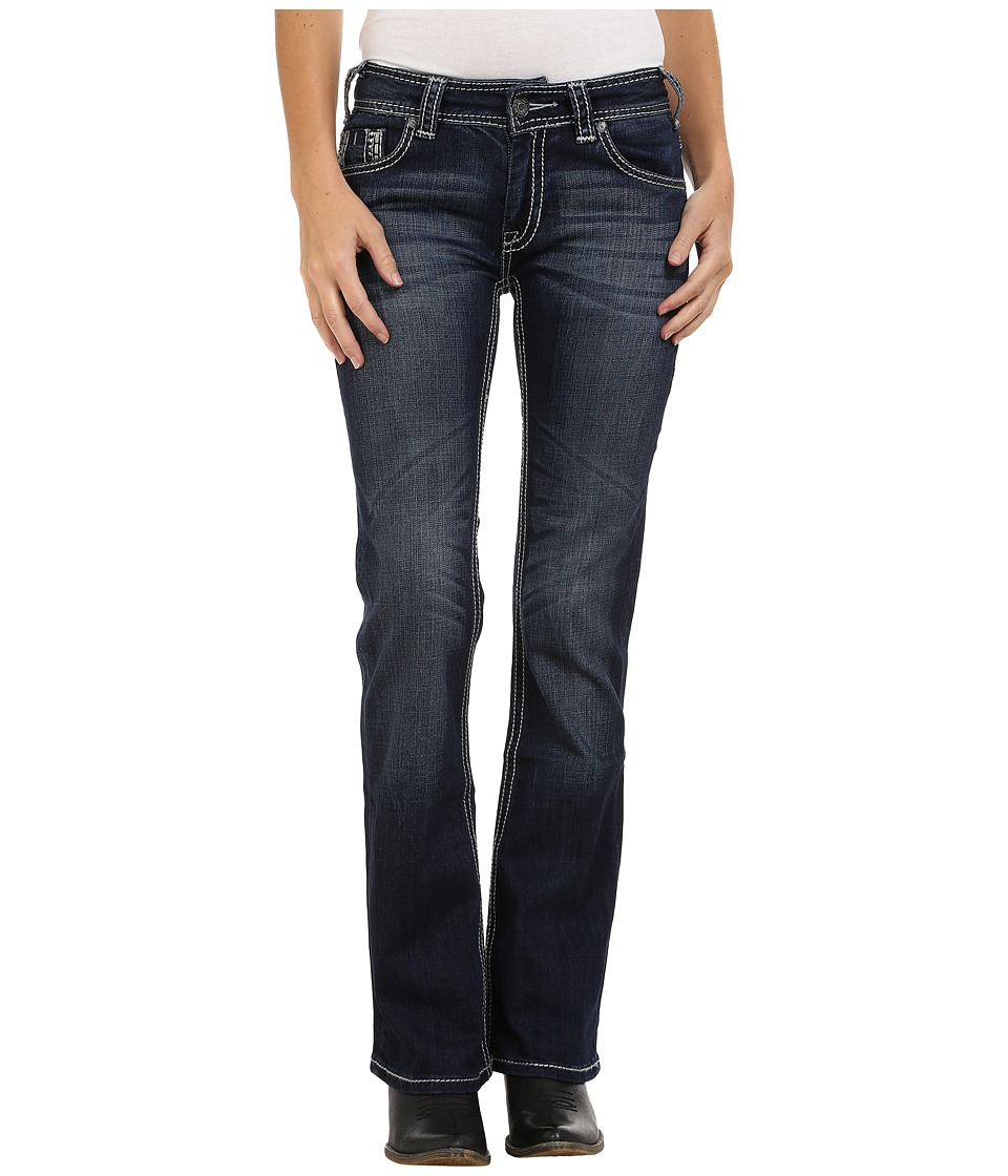 Rock and Roll Cowgirl - Mid Rise Bootcut in Dark Vintage W1-4500 (Dark Vintage) Women's Jeans