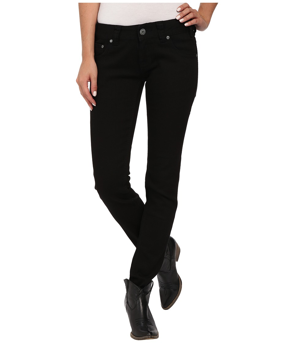 Rock and Roll Cowgirl - Low Rise Skinny in Black W0S4519 (Black) Women's Jeans