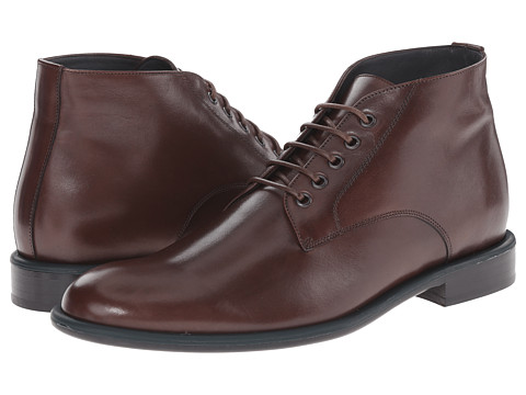 Viktor & Rolf - Calf Leather Boot with Contrast Piping (Brown) Men's Boots