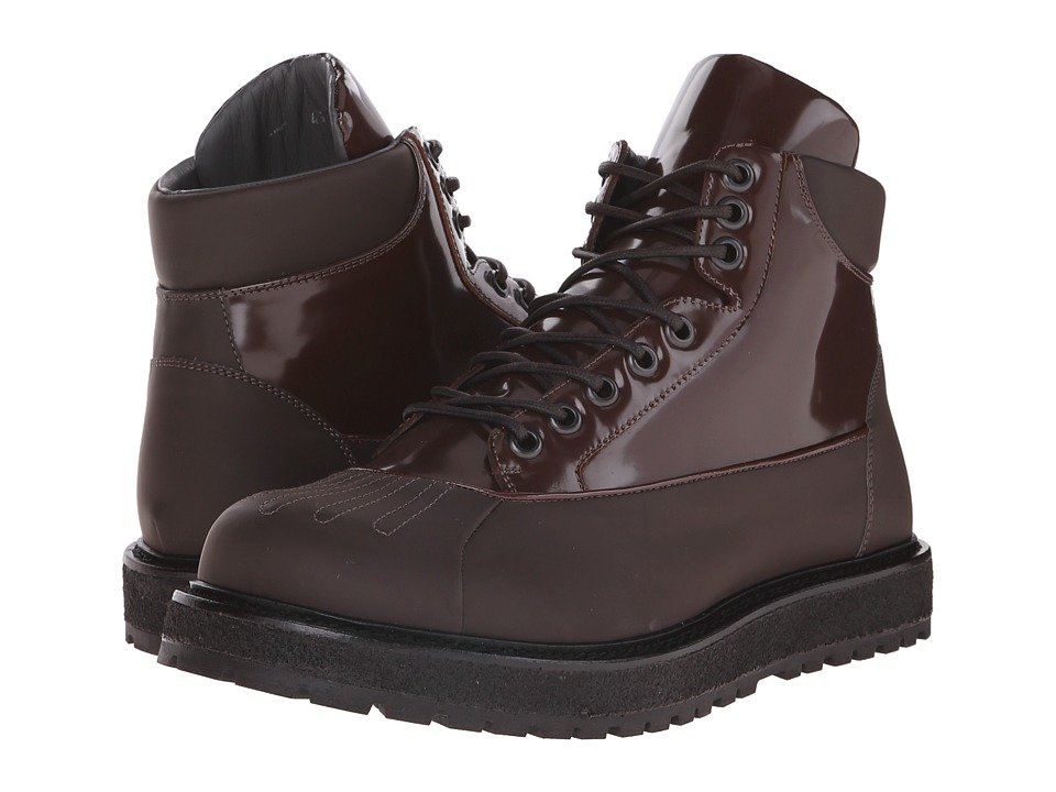 Viktor & Rolf Brushed Leather Duck Boot (Brown) Men