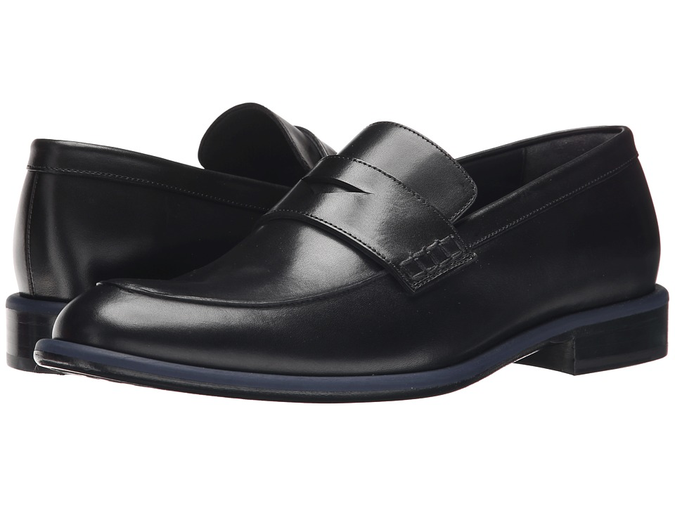 Viktor & Rolf Calf Leather Loafer with Contrast Piping (Black) Men