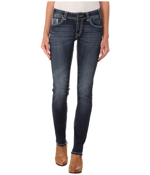 Rock and Roll Cowgirl - Mid Rise Skinny in Dark Vintage W1S4500 (Dark Vintage) Women's Jeans