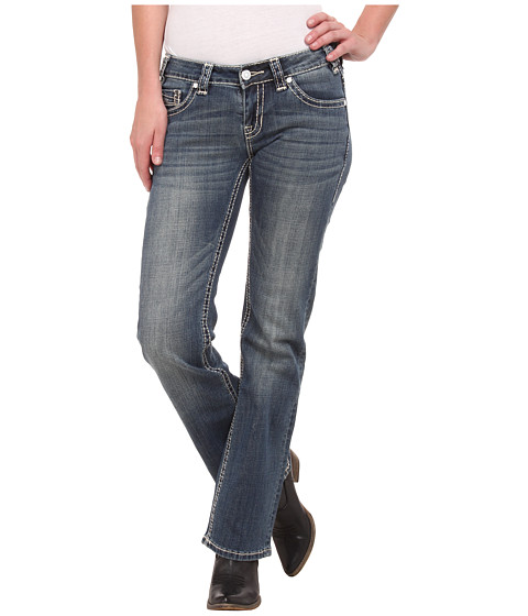 Rock and Roll Cowgirl - Riding Bootcut in Medium Vintage W7-4506 (Medium Vintage) Women's Jeans