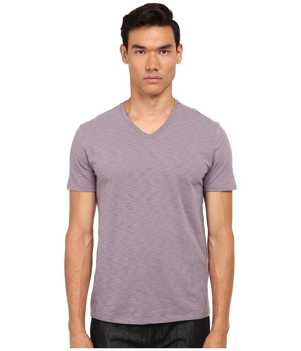 Vince - Short Sleeve V-Neck (Haze) Men's Clothing