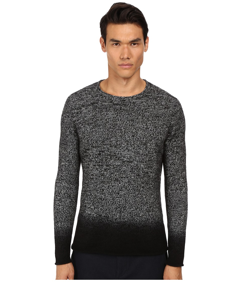 Vince - Marled Cashmere Degrade Crew (Black Combo) Men's Sweater
