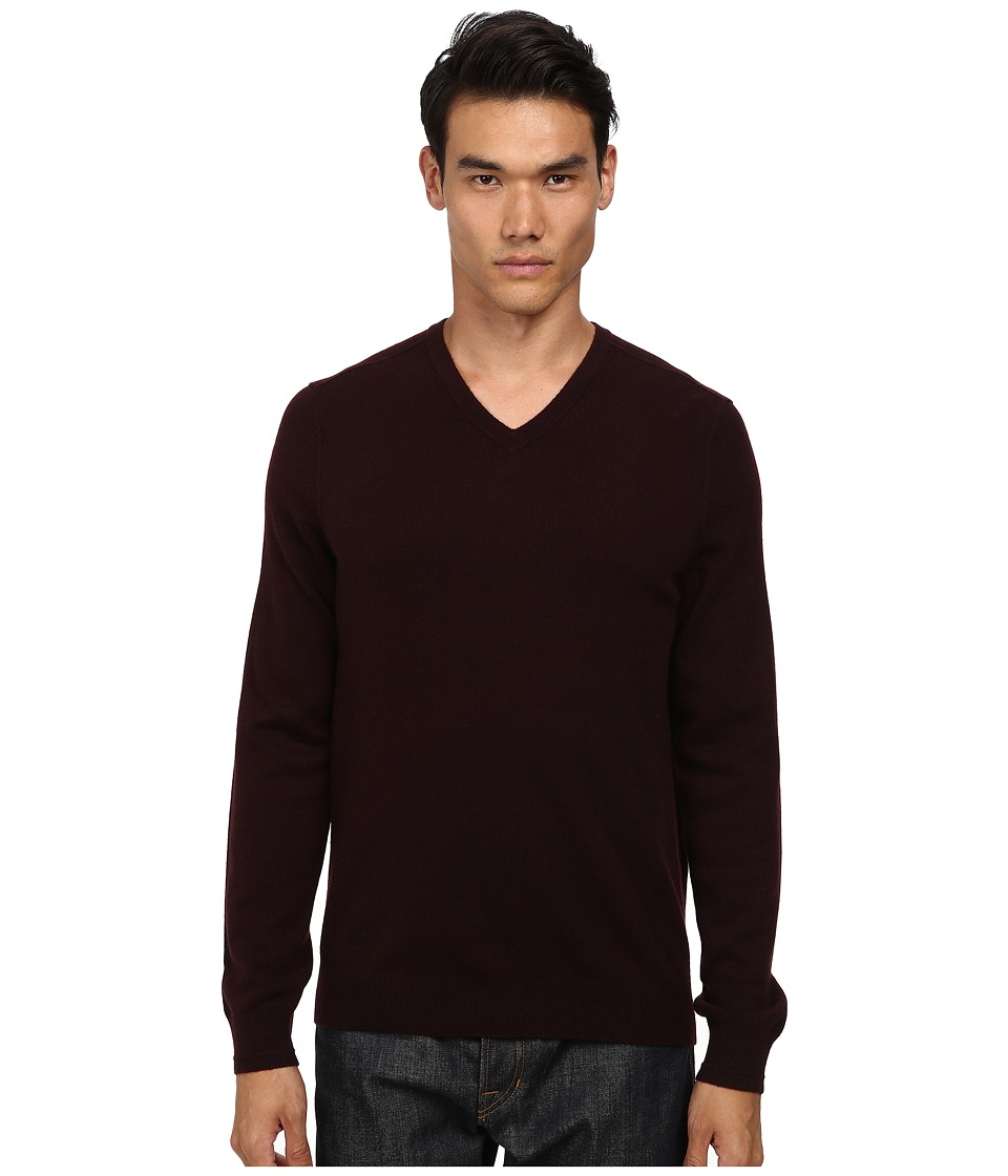 Vince - Cashmere V-Neck (Merlot) Men's Sweater