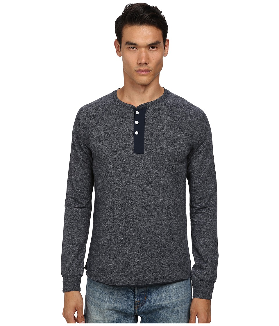 Vince - Long Sleeve Henley (Coastal) Men's Long Sleeve Pullover