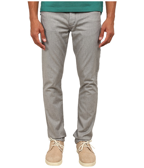 Vince - Five-Pocket Soho Button Fly (Heather Steel) Men's Casual Pants