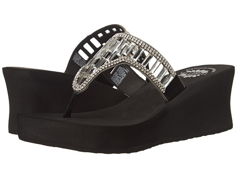 Yellow Box - P-Chandelier (Black) Women's Wedge Shoes