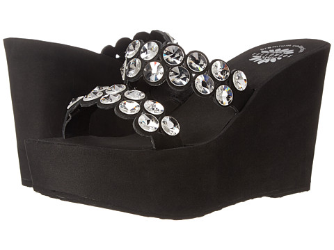Yellow Box - P-Skye (Black) Women's Wedge Shoes