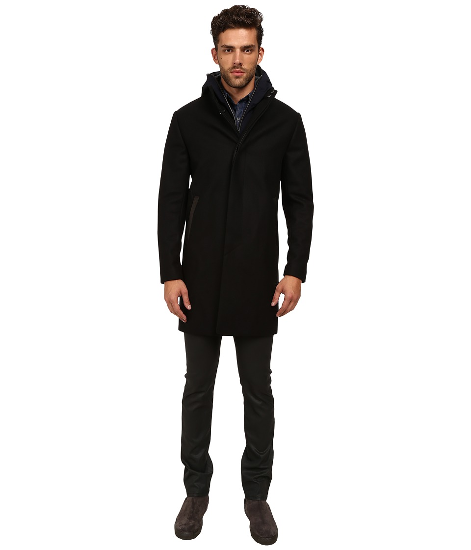 Vince - 2-in-1 Jacket (Black) Men's Coat