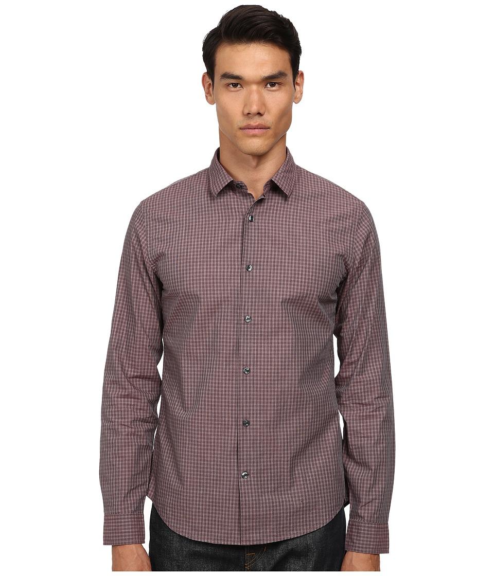 Vince - Long Sleeve Clean Placket (Cordovan) Men's Clothing