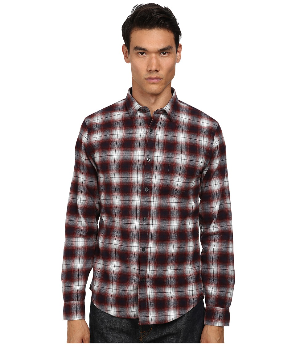 Vince - Melrose w/ Pocket (Firebrick) Men's Long Sleeve Button Up