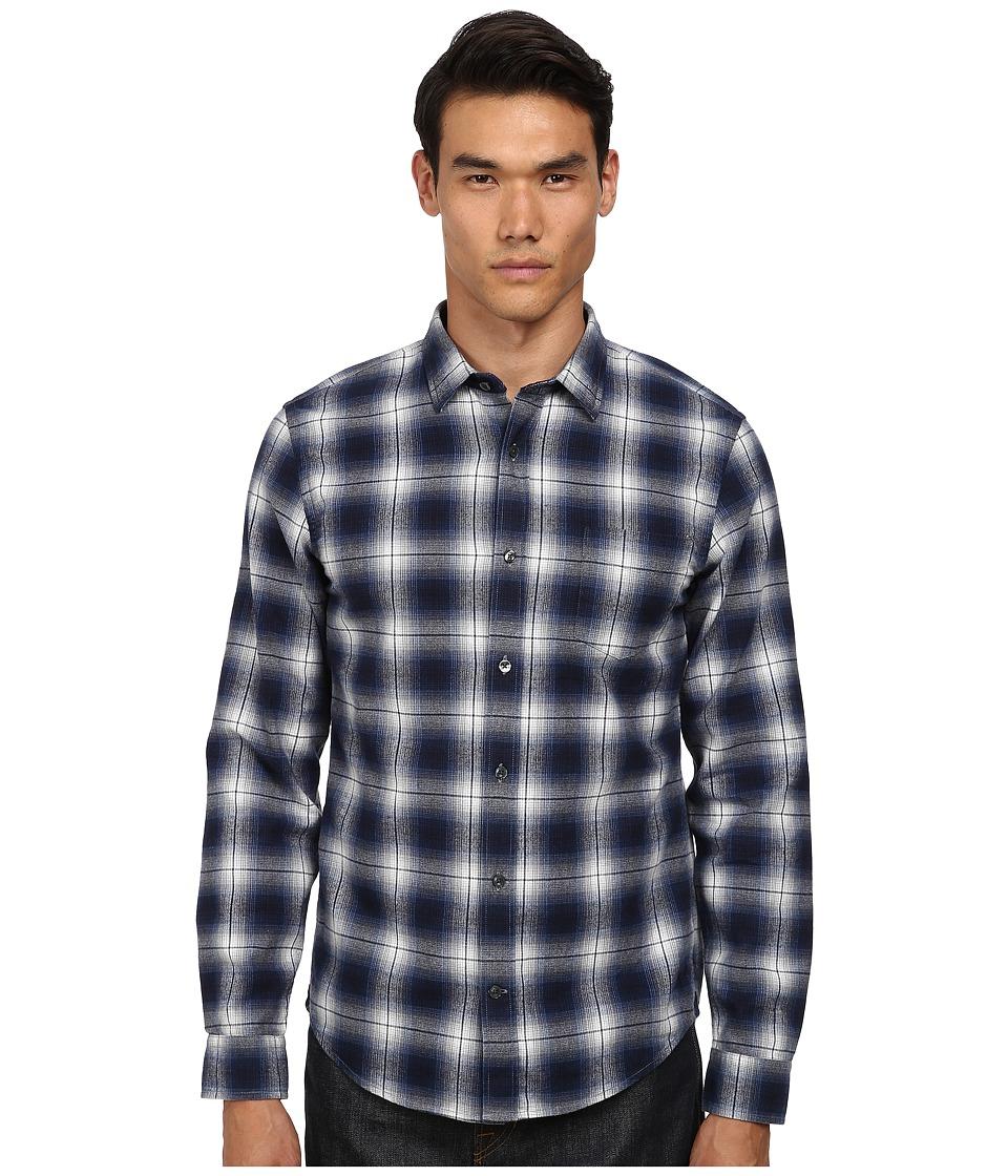 Vince - Melrose w/ Pocket (Imperial Blue) Men's Long Sleeve Button Up