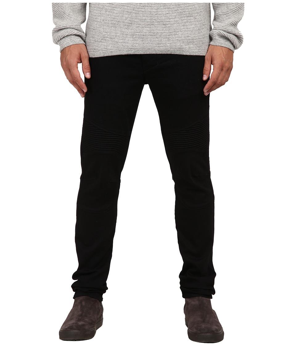 Vince - Black Moto Pintuck Jeans (Bleeker St.) Men's Jeans