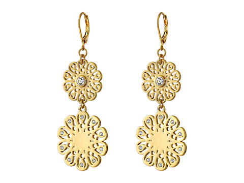 Kate Spade New York - Strike Gold Statement Earrings (Clear) Earring