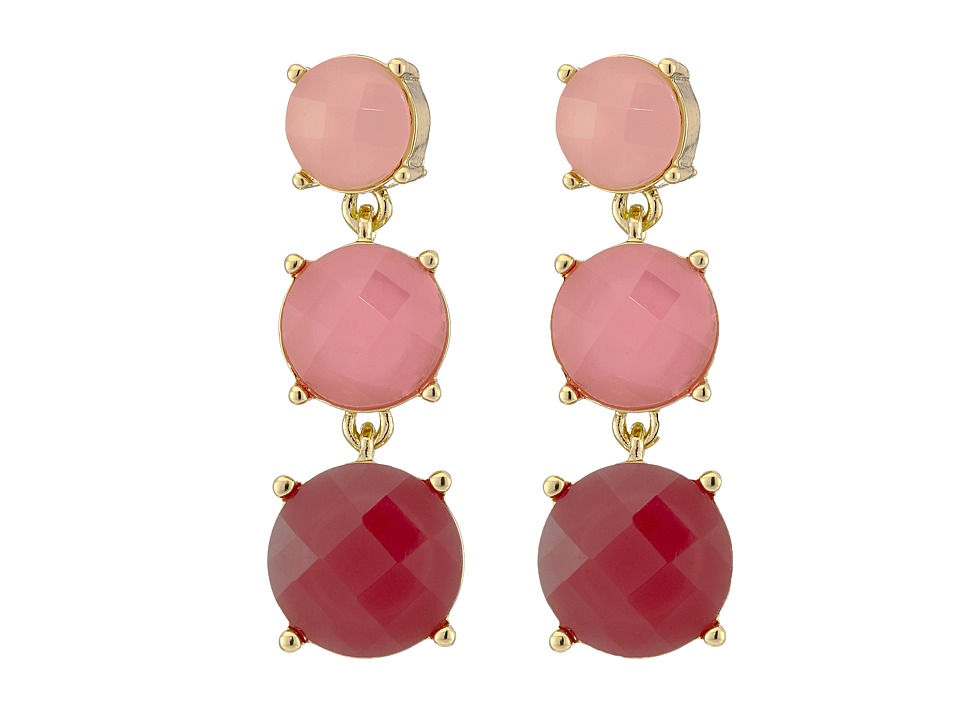 Kate Spade New York - Smell The Roses Linear Earrings (Bright Pink/Multi) Earring