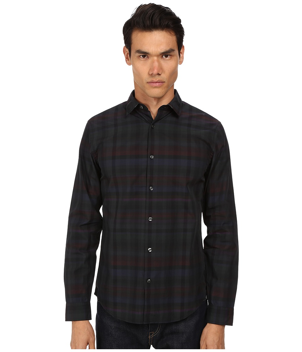 Vince - Long Sleeve Melrose Clean Placket (Black) Men's Long Sleeve Button Up