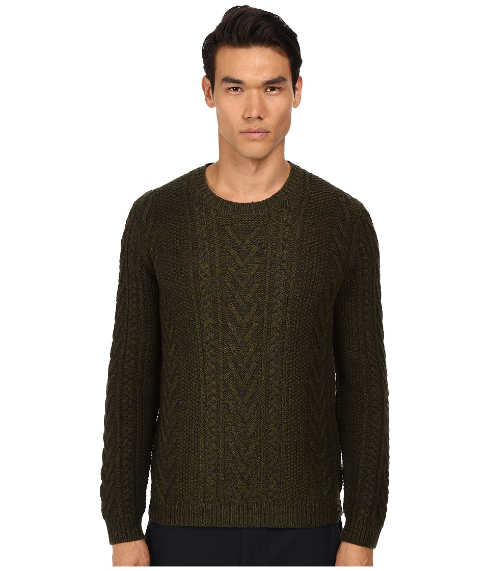 Vince - Cashmere Marled Cable Degrade Crew (Perrenial Combo) Men's Sweater