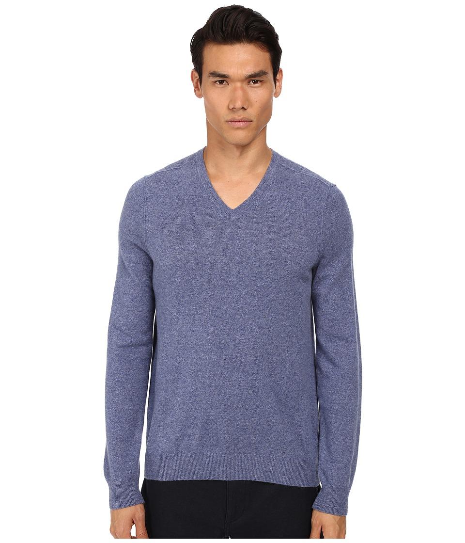 Vince - Cashmere V-Neck (Heather Jeans) Men's Sweater